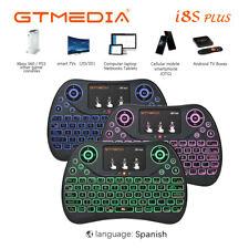 MINI I8S+ teclado inalámbrico Touchpad 2.4G Wifi 3 Colors Retroiluminada Español