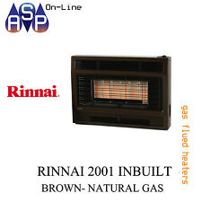 RINNAI GAS SPACE HEATER-2001 INBUILT- NATURAL GAS (METALLIC BROWN)