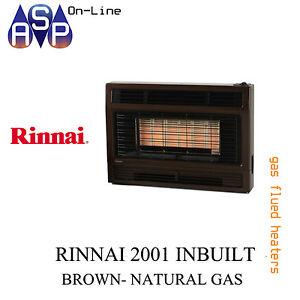 RINNAI GAS SPACE HEATER-2001 INBUILT- NATURAL GAS (METALLIC BROWN)