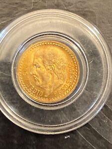 1945 Mexico 2.5 Pesos .900 Gold Estados Unidos Mexicanos  Coin Toning On Back