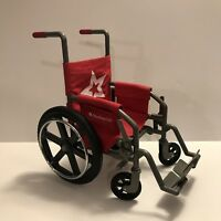 American Girl Doll Wheelchair for 18'' dolls EUC Berry color Wheel Chair