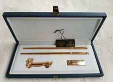 ANFRAMA TOREDO DAMASQUINADOS 24K Gold Plated Cat With A Bow-tie Gift set.