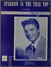 1951 GUY MITCHELL Sheet Music SPARROW IN THE TREE TOP Bob Merrill