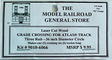 "Atlas O 3-rail 36"" Railroad Crossing for curved sectional track."