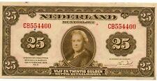 More details for netherlands 25 gulden muntbiljet, p67, 04.02.1943