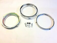 Triumph Legend TT & Adventurer Replacement Headlight Headlamp Rim Set - New