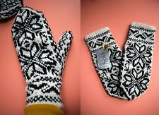 Selbu Norway Hand Knit Fair Isle Pure Wool Mittens New with Tag Size Large
