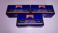 Lot de 3 cartouches bicycle standard - 36 jeux - 18 rouges et 18 Bleus