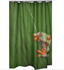 Shower Curtain Cute Frog Design Waterproof Polyester Fabric 72 inch 12 Hooks