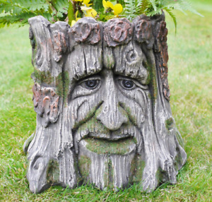 Amazing Green Man Planter Novelty Garden Tree Stump Plant Flower Holder LOTR