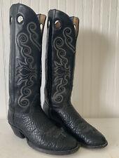Vintage Honda Tall Leather Cowboy Boots Buckaroo Style Pull Holes 9.5 9 1/2 D
