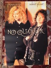 Jimmy Page Robert Plant No Quarter promotional poster from 1995 Led Zeppelin