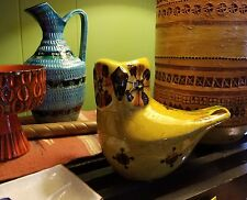 Large Mid Century Modern Aldo Londi Rosenthal Netter Ceramic Owl Raymor Bitossi