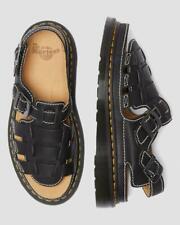 Men's Dr Martens 8092 FISHERMAN SANDALS Archive Black Grizzly Leather Size 10