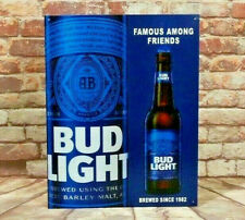 Bud Light Beer Famous Among Friends Metal Sign for Man Cave, Garage or Bar