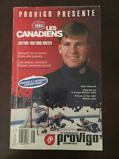 NHL Montreal Canadiens Provigo Edition 1987-1988 Roster Book