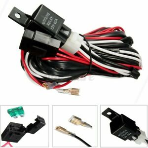 Fit 5 Pin LED Light Rocker Switch 12V 40A 300W Relay 30A Fuse Wiring Harness