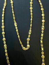 "Classy Handmade Dubai Chain Necklace In Fine Hallmark Certified 22Karat Gold 25"""
