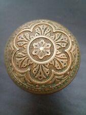 New listing Beautiful Antique CorbinBrass Bronze Door Knob Victorian EastlakeRare H 20100