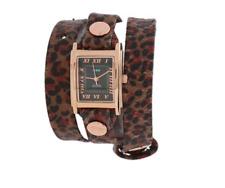 La Mer Women's Brown Indian Leopard Print Wrap Watch 0222