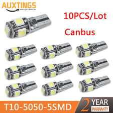 10X 12V T10 5SMD 5050 LED Canbus Error Free Interior Light Lamp Wedge Bulb White