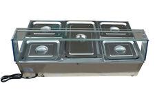 5-Kettle Countertop Bain-Marie Buffet Food Warmer 41×23×15Inch