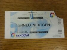 15/11/2012 Ticket: Athletic Bilbao U19 v Arsenal U19 [NextGen Series] (corner to