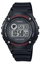 Original New Casio W-216H-1 Kids Mens Watch Digital Stopwatch Alarm 50M WR W-216