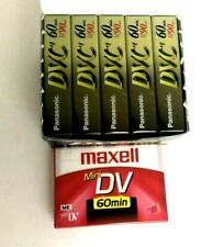 Panasonic Maxell 60 Minute Mini DV Digital Video Cassettes Tapes Lot of 6