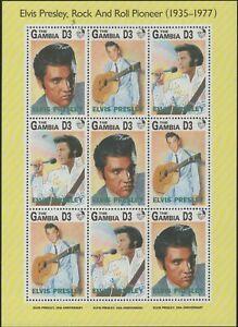 GAMBIA 1993 MNH FULL SHEET ELVIS