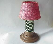 Very Vintage Table Candle Holder Lamp w Shade & Copper Base