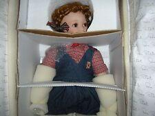 """Donna RuBert Baby Hannah 25""""  Porcelain & Cloth  & Dog 0916/1000 Worldwide COA"""