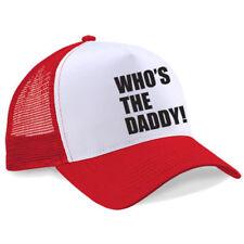 Chapeaux camionneurs rouges pour homme en 100% coton