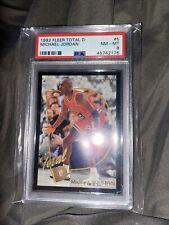 1992-93 Fleer Michael Jordan Total D #5 PSA 8 Near Mint Chicago Bulls HOF