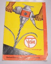Preisliste Gerhard Eisenack Ingenieur Chemnitz 1938 Elektro Werkzeuge ! (D5