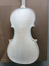 White violin 4/4 flamed maple one piece flamed maple back Stradi model 1716