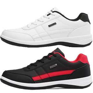 Mens Running Trainers Black Sneakers Sports Casual Lace Up Walking Shoes UK Size