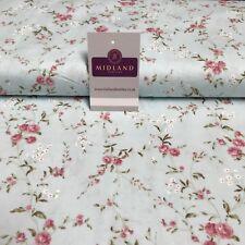 "Vintage Floral Shabby Chic Printed Cotton Poplin Dress Fabric 44"" wide MK894"