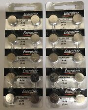 Pack of 20 Energizer LR44 A76 1.5V Coin Alkaline Batteries