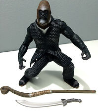 "2001 PLANET OF THE APES 6"" SCALE KRULL with BATTLE STAFF & SWORD LOOSE"