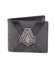OFFICIAL ASSASSIN'S CREED SYNDICATE METAL BADGE SYMBOL INDUSTRIAL STYLED WALLET