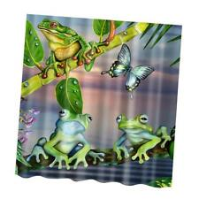 Water Resistant Fabric Frogs Shower Curtain Bathroom Liner Panel Decor #1