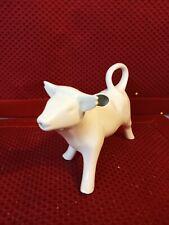 Vintage White Porcelain Cow Creamer Pitcher Cute Holstein Ceramic Cow Figurine