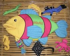 NIP - All-Cloth Hawaiian Fish Playset with 6 Cloth Sea Creatures