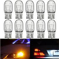 10x T20 7443 W21/5W R580 Clear Glass DRL Turn Signal Stop Brake Tail Bulb Light