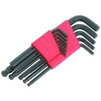 13pc SAE Hex Key Allen Wrench Set Long Short Arm Ball End w Holder FREE SHIPPING