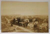 Madison Maine RPPC Birds Eye View Real Photo Street Homes Postcard A20