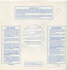 "Vintage INNER SLEEVE or SLEEVES 12"" IMPORTANT! THE RECORD EQUIPMENT dots v2 x 1"
