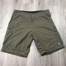 Kuhl Men's Shorts Size 32 Stretchy Nylon Outdoor Hiking Olive Green