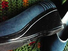 Women's Shoes Size 8 NAVY Blue Suede WEDGES